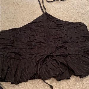 Free People Tops - Black tie halter top